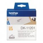 Banda etichete hartie Brother DK-11201, 29 mm x 90 mm, negru / alb, 400 et.