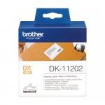 Banda etichete hartie Brother DK-11202, 62 mm x 100 mm, negru / alb, 300 et.