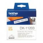 Banda etichete hartie Brother DK-11203, 17 mm x 87 mm, negru / alb, 300 et.