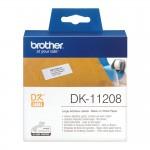 Banda etichete hartie Brother DK-11208, 38 mm x 90 mm, negru / alb, 400 et.