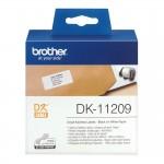 Banda etichete hartie Brother DK-11209, 29 mm x 62 mm, negru / alb, 800 et.
