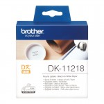 Banda etichete hartie Brother DK-11218, diam. 24 mm, negru / alb, 1000 et.