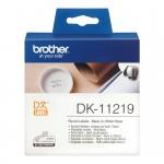 Banda etichete hartie Brother DK-11219, diam. 12 mm, negru / alb, 1200 et.