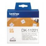 Banda etichete hartie Brother DK-11221, 23 mm x 23 mm, negru / alb, 1000 et.