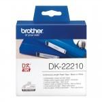 Banda continua hartie Brother DK-22210, 29 mm x 30.48 M, negru / alb
