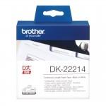 Banda continua hartie Brother DK-22214, 12 mm x 30.48 M, negru / alb