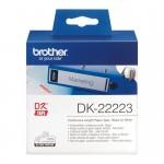 Banda continua hartie Brother DK-22223, 50 mm x 30.48 M, negru / alb