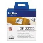 Banda continua hartie Brother DK-22225, 38 mm x 30.48 M, negru / alb