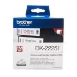 Banda continua hartie Brother DK-22251, 62 mm x 15.24 M, negru, rosu / alb