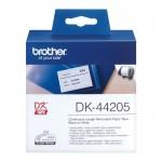 Banda continua hartie Brother DK-44205, 62 mm x 30.48 M, detasabila, negru / alb