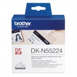 Banda continua hartie Brother DK-N55224, 54 mm x 30.48 M, non-adeziva, negru / alb
