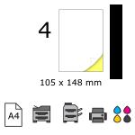 Top etichete adezive in coala A4, 105 x 148 mm, 4 buc./foaie