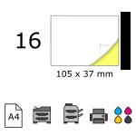 Top etichete adezive in coala A4, 105 x 37 mm, 16 buc./foaie