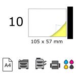 Top etichete adezive in coala A4, 105 x 57 mm, 10 buc./foaie