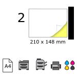Top etichete adezive in coala A4, 210 x 148 mm, 2 buc./foaie