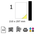 Top etichete adezive in coala A4, 210 x 297 mm, 1 buc./foaie