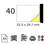 Top etichete adezive in coala A4, 52.5 x 29.7 mm, 40 buc./foaie