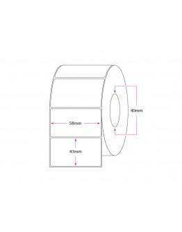 Rola de etichete TERMICE 58x43mm, 1000 et/rola