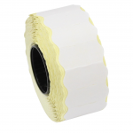 Rola etichete de pret ondulate, 26 x 12 mm, albe, 1500 et./rola