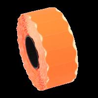 Rola etichete de pret ondulate, 26 x 12 mm, portocaliu neon, 1500 et./rola