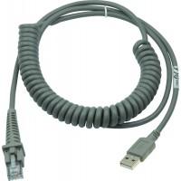 Cablu USB Datalogic 90A052043, pentru cititor coduri de bare, spiralat, 2.74 M