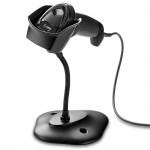Cititor coduri de bare 2D Zebra DS2208, USB, stand, negru