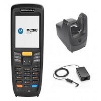 Terminal portabil 2D Zebra MC2180, SR, Windows CE 6, 128 MB RAM, 27 taste, kit